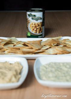 Hummus and home made healthy chips www.krystlescorner.com
