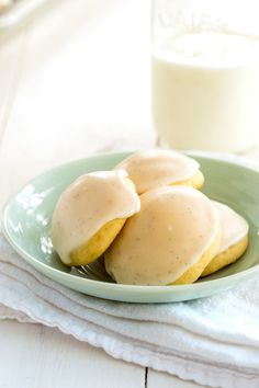 Vanilla Cookies with Vanilla Bean Glaze have beautiful vanilla flavor throughout. Each bite is heaven! #cookies #vanilla #nielsenmassey