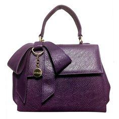 Handbags Cottontail Handbag (670 ILS) ❤ liked on Polyvore featuring bags, handbags, leather hand bags, leather handbag purse, purse bag, purple leather bag and purple leather handbags