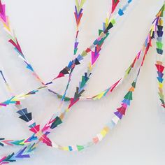 garlands galore and perfect for a party! #celebrateeveryday