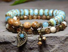 Set of 2 Stacked Boho Bracelets