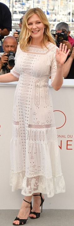 Who made  Kirsten Dunst's white lace dress?