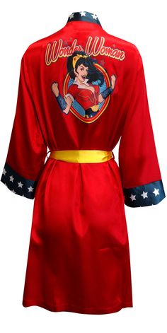 WebUndies.com DC Comics Wonder Woman Bombshell Satin Robe