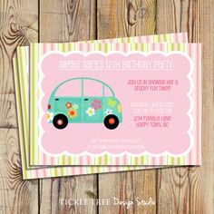 Girly Car Birthday Party Ideas