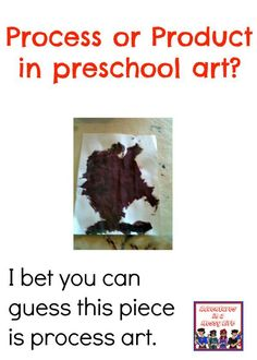 Process versus product, what is your goal with that art project?
