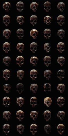 Skulls Sculptures Posters by Billy Bogiatzoglou – Fubiz Media