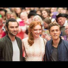 160905 BBC Radio Cornwall - David White w/ Aidan Turner, Eleanor Tomlinson…