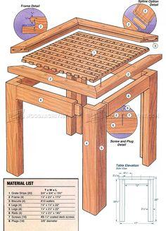 Deck Table Plans - Outdoor Furniture Plans