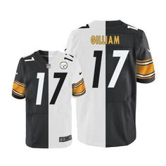 Nike #Steelers #17 Joe Gilliam White Black Men's Stitched NFL Elite Split Jersey #nfl #football #nationalfootballleague #pats #patsnation #newengland #newenglandpatriots #boston #patriots