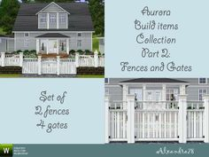 Aurora Build Items Collection 2: Fences and Gates by Alxandra