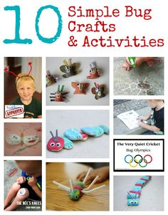 10 Bug Crafts & Activities