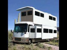 Funny Huge 2 Story popup RV motorhome design in arizona desert - YouTube