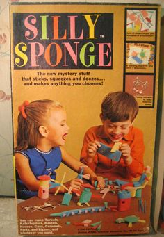 1968 Silly Sponge Building SetSilly Sponge by Funtastic (The same people that made Silly Sand).  Craft Set.-1968