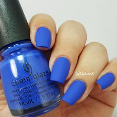 I Sea The Point By China Glaze W Matte Topcoat Nail Swatch Jaemarie2008
