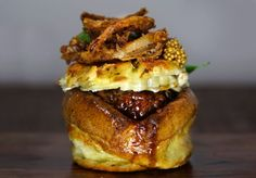 This Unconventional Braised Lamb Burger is Like an Open Faced Sandwich #burgers trendhunter.com