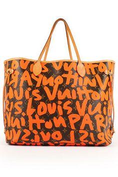 Louis Vuitton Neverfull Gm Graffiti Stephen Sprouse In Orange