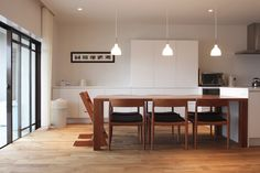 無垢ダイニングテーブル Type A / 無垢ブラックチェリー材 W2,100×D900×H700(オーダー製作) 兵庫県芦屋市 K邸