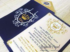 Convite Príncipe- chá de fralda