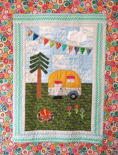 The Happy Camper quilt pattern PDF format by KnitpickinChicken, $10.00