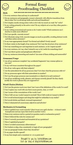 Formal Checklist for Editing Your Essay. Erfolg im Abitur - Mit ZENTRAL-lernen. Kostenloser Lerntypen-Test