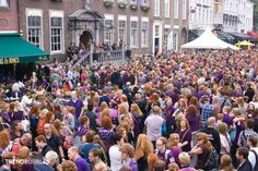 Togetherness at the Redhead days Thousands of redheads from all over the world attended the Redhead Days in Breda. The entire city was invaded by red, which at the request of the organization had dressed in purple this year. More photos: http://trendbubbles.nl/togetherness-redhead-days/ #breda #roodharigendag #redhead #rood #redheaddays #redheadday   #redhairstyles #redhair