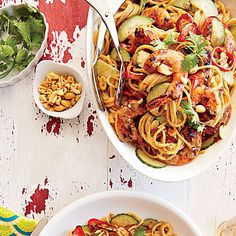 Learn how to make Spicy Shrimp and Peanut Noodles. MyRecipes has 70,000+ tested recipes and videos to help you be a better cook