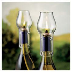 4 Piece Wine Bottle Oil Lamp Kit
