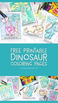 5 Free Printable Dinosaur Coloring Pages For Kindergarten Dinosaur Books For Kids, Dinosaurs Preschool, Dinosaur Activities, Cute Dinosaur, Dinosaur Party, Activities For Kids, Activity Ideas, Birthday Coloring Pages, Dinosaur Coloring Pages