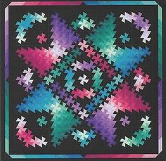 Twister Shimmer Pattern by Quilt Moments at KayeWood.com