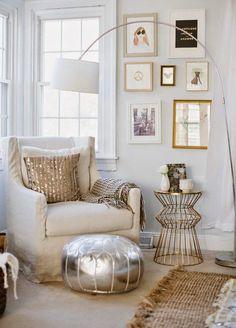 La Pareja del día...Blanco y Oro   Decorar tu casa es facilisimo.com