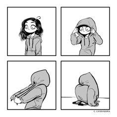 """c-cassandra: """"Current mood. """" Me today. Cute Comics, Funny Comics, Memes Humor, Funny Humor, Funny Stuff, C Cassandra Comics, Cassandra Calin, Tumblr Comics, Sarah's Scribbles"""