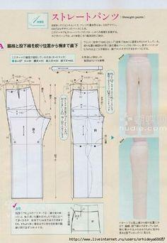 patrons de pantalons