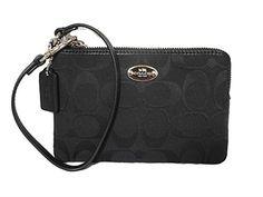 Coach Corner Zip Women's Signature Wristlet Wallet