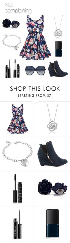 """""""Not complaining"""" by thebanshee24 ❤ liked on Polyvore featuring BERRICLE, West Coast Jewelry, Indigo Road, NARS Cosmetics, MAC Cosmetics, Chloé, floral, idc and floraldress"""