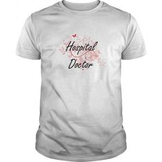 Cool Hospital Doctor Artistic Job Design with Butterflies Shirts & Tees
