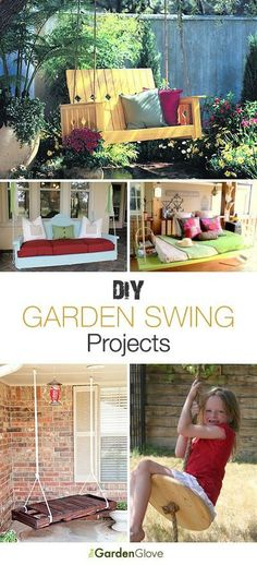 DIY Garden Swings  Lots of Ideas  Tutorials!