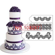 Alencon Lace Cake Stencil Set , Plastic Art Stencils, Stencil Template, Classic Cake Decoration Tool, Lace Border Stencil