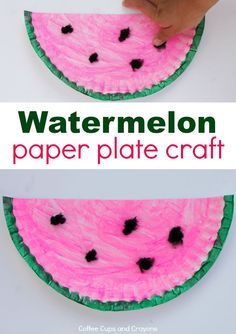 Easy watermelon paper plate craft for summer!