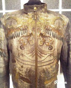 Куртка из джинса от Роберто Кавалли
