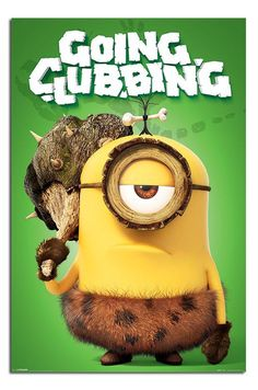Minions Going Clubbing Poster