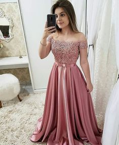 Off the Shoulder Pink Short Sleeves Lace Fancy Prom Dresses Formal Evening Dress sold by OKProm. Shop more products from OKProm on Storenvy, the home of independent small businesses all over the world. Fancy Prom Dresses, Satin Dresses, Homecoming Dresses, Bridesmaid Dresses, Party Dresses, Quinceanera Dresses, Dress Lace, Wedding Dresses, Knot Dress