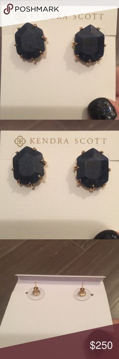 Kendra Scott Morgans Kendra Scott Lapis Morgans. Purchased off another site but I have never worn. Will ship with dust bag. Cross posted. Kendra Scott Jewelry Earrings