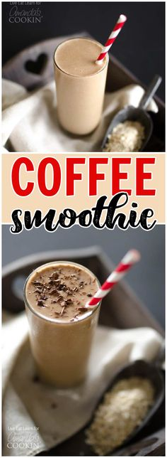 This Loaded Coffee Smoothie is packed with whole grains, fruit, protein, and (the best part) coffee! Everything you need to get out the door in 5 minutes! #smoothies #coffeerecipes #quickmeal #breakfastideas #breakfastrecipes Best Breakfast Recipes, Brunch Recipes, Cocktail Recipes, Drink Recipes, Breakfast Smoothies, Breakfast Casserole, Coffee Recipes, Egg Recipes, Amazing Recipes
