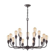 Shop for Elk Vernon 15-light LED Chandelier in Oil Rubbed Bronze. Get free shipping at Overstock.com - Your Online Home Decor Outlet Store! Get 5% in rewards with Club O! - 18320176