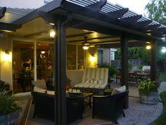 Solid and lattice patio cover