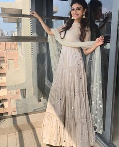 Like It 👍 or Love It ❤ Mouni Roy for a shoot   Styled By 👰 ~   Assisted By ~   Party Wear Indian Dresses, Designer Party Wear Dresses, Indian Gowns Dresses, Indian Bridal Outfits, Indian Fashion Dresses, Dress Indian Style, Indian Designer Outfits, Pakistani Outfits, Stylish Dress Designs