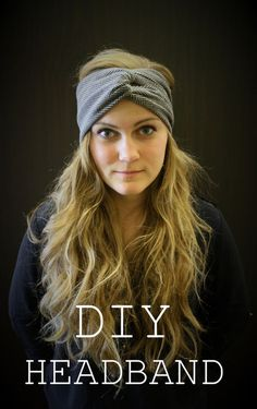DIY knotted headband. These tutorial is fast and easy. These headbands are perfect for keeping yours ears warm in the winter! Great for Christmas gifts!