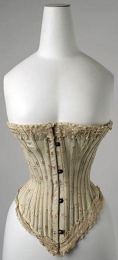 Corset, 1890s, French, silk, The Metropolitan Museum of Art