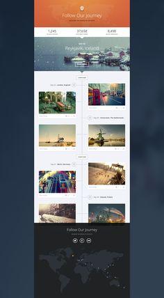 it would be pretty sweet if the grey panel (vertical timeline) endlessly scrolls | Piotr Kwiatkowski
