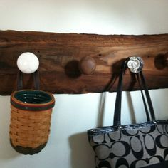 My friend Jenna made this with old barn wood